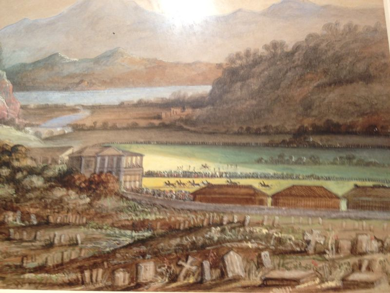Cemetery and racecourse